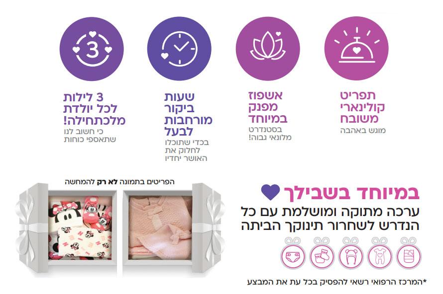 חדר לידה - 3 לילות לכל יולדת