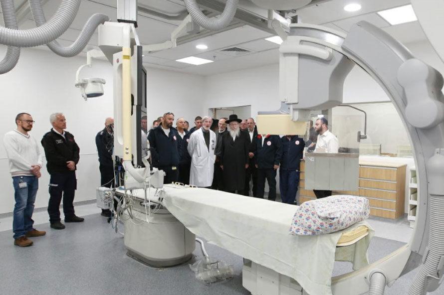 יחידת צנתורים חדשה במרכז הרפואי מעיני הישועה