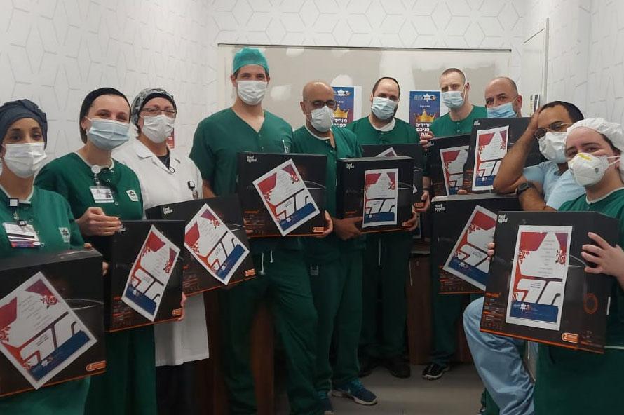 תרומה של סירים איכותיים לצוותי הרופאה